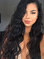 cheap -Human Hair Lace Front Wig Body Wave Wig 130% Natural Hairline / African American Wig / 100% Hand Tied Women's Short / Medium Length / Long Human Hair Lace Wig