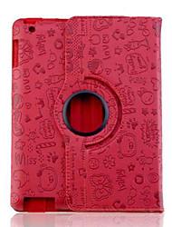 lureme® yndig faerie mønster pu læderetui til iPad 2/3/4