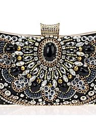 Donna Sacchetti Per tutte le stagioni Vacchetta Borsa da sera con Perle Crystal / Rhinestone Ciondoli/gioielli per Matrimonio