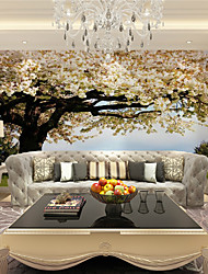 cheap -JAMMORY 3D Wallpaper For Home Contemporary Wall Covering Canvas Material Pink flowers treeXL XXL XXXL