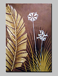 cheap -Hand Painted Leaves And Flowers Oil Painting On Canvas Modern Abstract Wall Art Picture For Home Decoration Ready To Hang