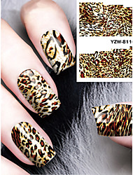 cheap -1pcs Sexy Leopard Print Watermark  Nail Stickers Nail Art Design