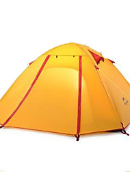 3-4 Personen Zelt Doppel Camping Zelt Einzimmer Zelte für Rucksackreisen Gut belüftet Tragbar Windundurchlässig Klappbar Atmungsaktivität