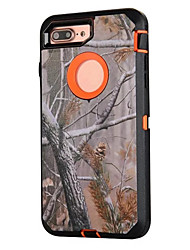 cheap -For iPhone 7 plus 7 Case Forest Camouflage Three in One PC with Silicone Shockproof Case For iPhone 6s Plus 6s 6 SE 5s 5 5c 4s 4