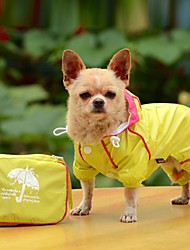cheap -Dog Rain Coat Dog Clothes Solid Colored Yellow Red Blue Acrylic Fibers Costume For Pets Men's Women's Waterproof