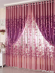 Grommet Top One Panel Curtain Country , Jacquard Living Room Polyester Material Sheer Curtains Shades Home Decoration