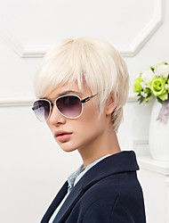 Cool Short Capless Wigs Natural Straight Human Hair