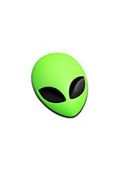 1pcs 5.6x3.7cm Metall 3D Alien Auto Logo-Badge Metall Auto-Motorrad-Aufkleber Emblem Auto Styling-Zubehör