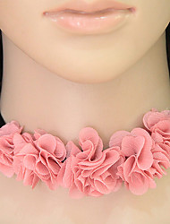 abordables -Femme Fleur Collier court / Ras-du-cou  -  Fleur A Fleurs Fleurs Rose Colliers Tendance Pour Décontracté