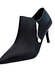 Støvler-PU-Komfort-Damer-Sort Grå Rød-Fritid-Stilethæl