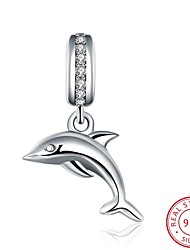 cheap -Women's Dolphin Animal Sterling Silver Zircon Cubic Zirconia European Jewelry For Daily