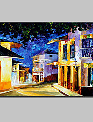 cheap -Hand Painted City Landscape Oil Painting On Canvas Modern Abstract Wall Art Picture For Home Decoration Ready To Hang