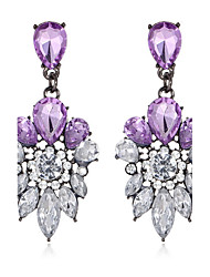 Women's Drop Earrings Synthetic Amethyst Synthetic Sapphire Crystal Alloy Jewelry For Wedding Party