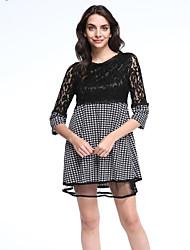 cheap -Women's Plus Size Street chic A Line Dress Lace Print