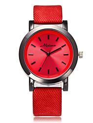 baratos -Mulheres Relógio de Pulso Quartzo Venda imperdível Legal / PU Banda Analógico Casual Fashion Branco / Azul / Vermelho - Vermelho Azul Rosa claro
