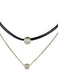 Недорогие -Жен. Плавающий Ожерелья-бархатки Татуировка Choker обернуть ожерелье Дамы Тату-дизайн Классический Мода Золотой Ожерелье Бижутерия Назначение Повседневные