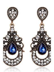 ieftine -Dame Cercei Picătură Safir Cristal Diamante Artificiale Bijuterii Pentru Nuntă Petrecere Zilnic