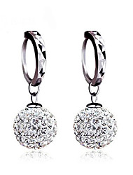 cheap -Women's Stud Earrings Ball Earrings Earrings Basic Classic Silver Sterling Silver Cubic Zirconia Imitation Diamond Ball Jewelry For
