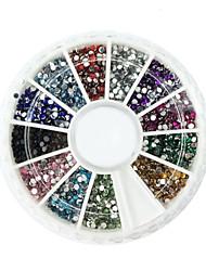 2000 Manucure Dé oration strass Perles Maquillage cosmétique Nail Art Design