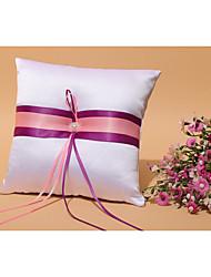 cheap -Faux Pearl Ribbons Satin Ring Pillow Beach Theme Garden Theme Vegas Theme Classic Theme Fairytale Theme