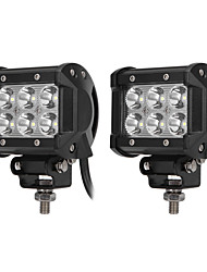 cheap -ZIQIAO 2Pcs Car Light 9-30V 18W 6500K 1800LM 4WD Car LED Work Light ATV Off-road Driving Floodlight/Spotlight Lamp Car Styling