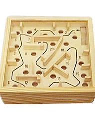 cheap -Building Blocks Balls Maze & Sequential Puzzles Maze Wooden Labyrinth Stress Relievers Toys Novelty Square Wood 1 Pieces Boys' Girls' Gift