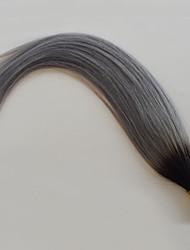 baratos -PANSY Queratina / Ponta I Extensões de cabelo humano Liso Cabelo Humano Cinza