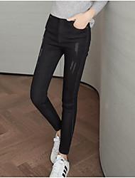 preiswerte -Damen Übergrössen Eng Jeans Hose Solide