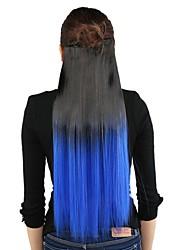 Недорогие -Ткань Наращивание волос Прямой Классика На клипсе Повседневные Высокое качество