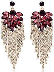 ieftine -Dame Cercei Picătură Safir Bijuterii Statement Cristal Diamante Artificiale Bijuterii Pentru Nuntă Petrecere Zilnic