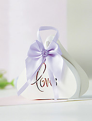 cheap -Creative Card Paper Favor Holder With Bow Favor Boxes Gift Boxes-12
