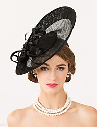 cheap -Flax Feather Hats Headpiece