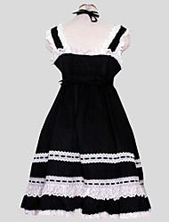 Lolita Clássica e Tradicional Rococó Mulheres Uma Peça Vestidos Cosplay Sem Manga