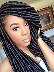 Faux Locs Crochet Braids Twist havana mambo Hair Extensions African Braiding Kanekalon Soft Dread Locks 24roots/pack