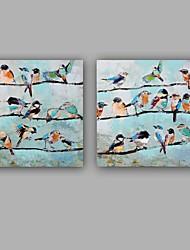 Недорогие -ручная роспись абстрактные / животные собаки живопись маслом современная / классическая картина холст маслом холст холст