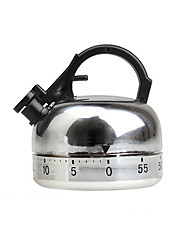 cheap -60 mins Whistle Kettle Shape Mechanical Teapot Kitchen Timer Cooking Count Down