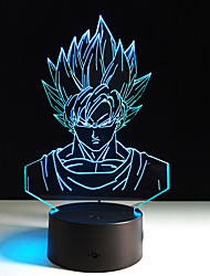 1PC Seven Dragon Ball Colorful Vision Stereo Led Lamp 3D Lamp Light Colorful Gradient Acrylic Lamp Night Light Vision(No remote control)