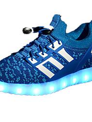 baratos -Para Meninos Sapatos Couro Ecológico Primavera / Outono Conforto Tênis Cadarço para Fúcsia / Verde / Azul Real