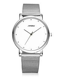 Недорогие -SINOBI Мужской Наручные часы Защита от влаги Кварцевый Нержавеющая сталь Группа Серебристый металл