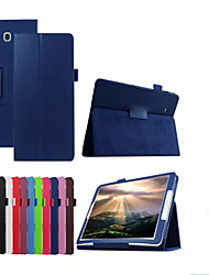 cheap -Case For Samsung Galaxy with Stand Flip Full Body Cases Solid Color Hard PU Leather for Tab E 9.6