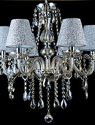cheap -Chandelier ,  Modern/Contemporary Traditional/Classic Vintage Electroplated Feature for Crystal GlassLiving Room Bedroom Dining Room