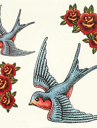 economico -1pc halloween pasta tatuaggio tatuaggio di colore adesivi un animale impermeabile versione più grande