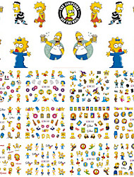 cheap -12 Designs Cartoon Children Nail Sticker Water Transfer Nail Art Tattoo Temporarily Nail Tips Decals Decor BN445-456