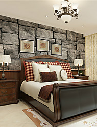 JAMMORY Wallpaper For Home Wall Covering Canvas Adhesive required Mural Gray Stone XL XXL XXXL