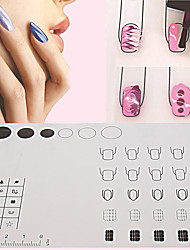 Silicone Nail Art Stamp Stamping Mat Foldable Washable Work Space Pad Nail Manicure Tool 3 Patterns Available