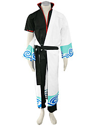 Inspired by Gintama Cosplay Anime Cosplay Costumes Cosplay Suits Solid Coat Pants Belt Kimono Coat For Male
