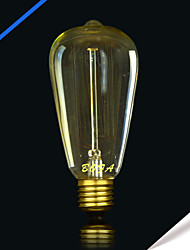 bofa st64 13ak 25w antique edison boule de soie lampe à bulles (85v-265v)