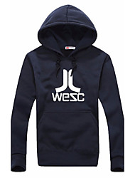 Men's Sports Casual/Daily Active Hoodie Print Letter Crew Neck Micro-elastic Cotton Long Sleeve Spring Fall