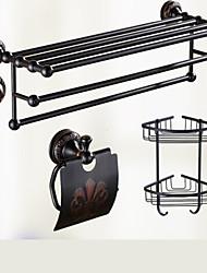 Set di accessori per il bagno Antiquariato 140 63 Appendi-accappatoio Mensola per il bagno Porta sapone da doccia Montaggio a muro