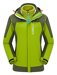Women's 3-in-1 Jackets Waterproof Thermal / Warm Windproof Fleece Lining Anti-Eradiation Breathable Tracksuit Coverall for Skiing Camping